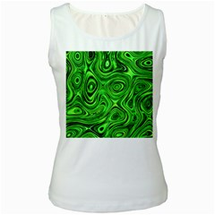 Modern Art Womens  Tank Top (White)