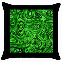 Modern Art Black Throw Pillow Case