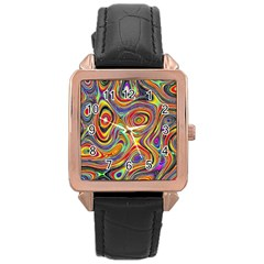 Modern  Rose Gold Leather Watch