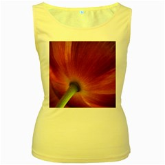 Poppy Womens  Tank Top (Yellow)