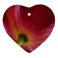 Poppy Heart Ornament (Two Sides)