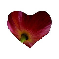 Poppy 16  Premium Heart Shape Cushion