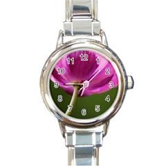 Poppy Round Italian Charm Watch