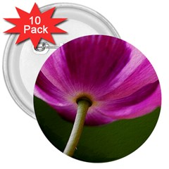 Poppy 3  Button (10 pack)