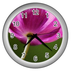 Poppy Wall Clock (silver)