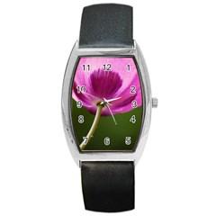 Poppy Tonneau Leather Watch