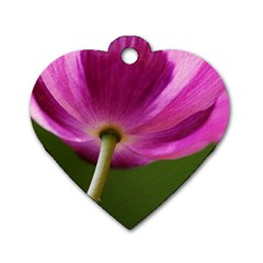 Poppy Dog Tag Heart (Two Sided)