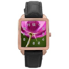 Poppy Rose Gold Leather Watch