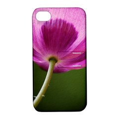 Poppy Apple Iphone 4/4s Hardshell Case With Stand
