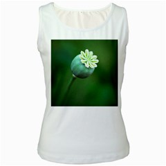 Poppy Capsules Womens  Tank Top (white)