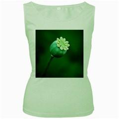 Poppy Capsules Womens  Tank Top (Green)