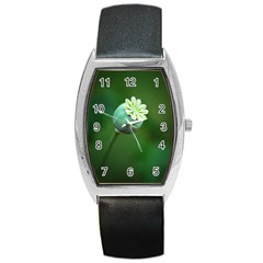 Poppy Capsules Tonneau Leather Watch