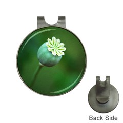 Poppy Capsules Hat Clip with Golf Ball Marker