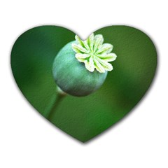 Poppy Capsules Mouse Pad (heart)