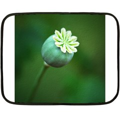Poppy Capsules Mini Fleece Blanket (Two Sided)