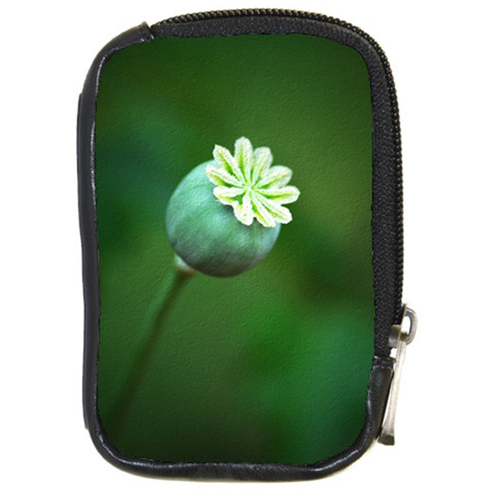 Poppy Capsules Compact Camera Leather Case