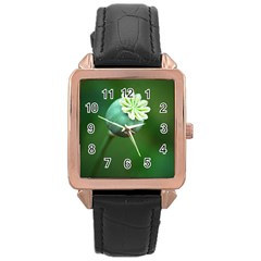 Poppy Capsules Rose Gold Leather Watch