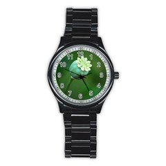 Poppy Capsules Sport Metal Watch (black)