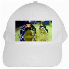 Marble White Baseball Cap