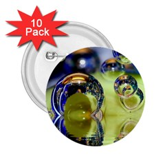 Marble 2 25  Button (10 Pack)