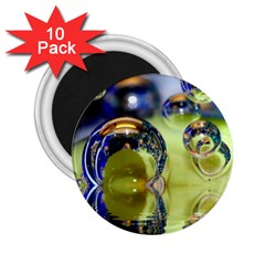 Marble 2.25  Button Magnet (10 pack)