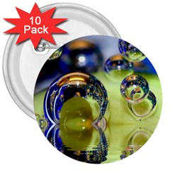 Marble 3  Button (10 pack)