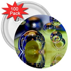 Marble 3  Button (100 Pack)