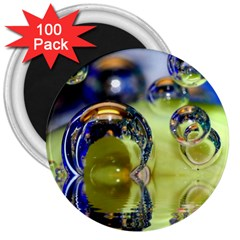 Marble 3  Button Magnet (100 pack)
