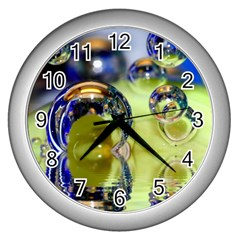 Marble Wall Clock (Silver)