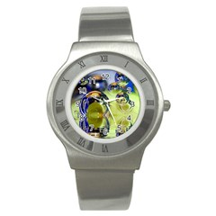 Marble Stainless Steel Watch (Unisex)