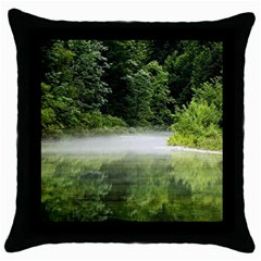 Foog Black Throw Pillow Case