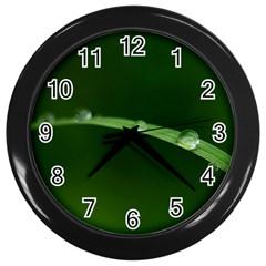Pearls   Wall Clock (Black)