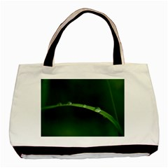 Pearls   Twin-sided Black Tote Bag