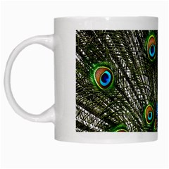 Peacock White Coffee Mug