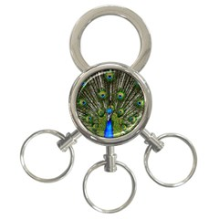 Peacock 3-Ring Key Chain