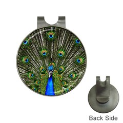 Peacock Hat Clip With Golf Ball Marker