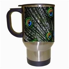 Peacock Travel Mug (White)