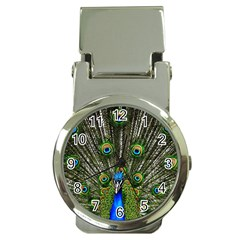 Peacock Money Clip With Watch