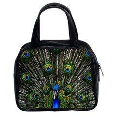 Peacock Classic Handbag (Two Sides)