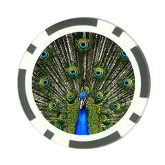 Peacock Poker Chip (10 Pack)