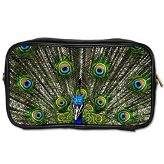 Peacock Travel Toiletry Bag (One Side)