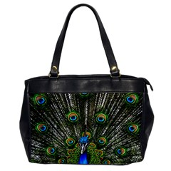 Peacock Oversize Office Handbag (One Side)