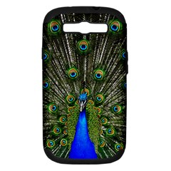 Peacock Samsung Galaxy S Iii Hardshell Case (pc+silicone)
