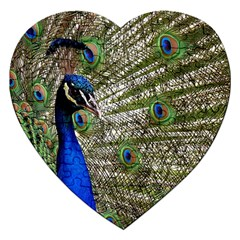 Peacock Jigsaw Puzzle (Heart)