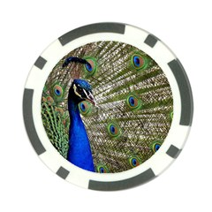 Peacock Poker Chip