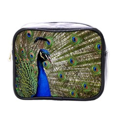 Peacock Mini Travel Toiletry Bag (One Side)