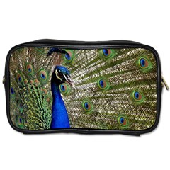 Peacock Travel Toiletry Bag (two Sides)