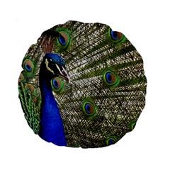 Peacock 15  Premium Round Cushion