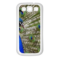 Peacock Samsung Galaxy S3 Back Case (white)