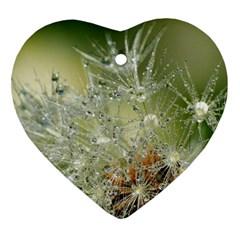 Dandelion Heart Ornament